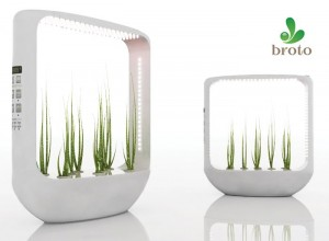 Broto Domestic Greenhouse grows plants through aeroponics